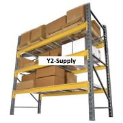 New Husky Rack And Wire Double Slotted Pallet Rack Starter 96w X 42d X 120h