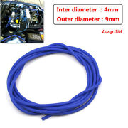 Car 4mm Blue Silicone Vacuum Tube Hose Pipe Silicon Tubing 16.4ft /5 Meters