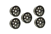 Land Rover D3/d4/rrs Terrafirma 18x8 Steel Wheel Set Of 5 Satin Black With Nuts