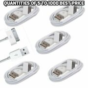 5-1000 Lot White Usb Data Sync Charger Cable Cord For Iphone 4s 4 Ipod Wholesale