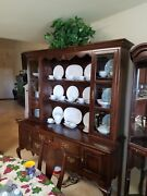 Antique China Cabinet With Matching Dining Table With 6 Chairs