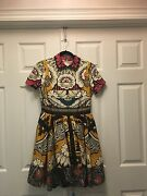 Valentino Ss15 Floral Shantung Silk Dress In Patchwork Crepemulticolored Floral