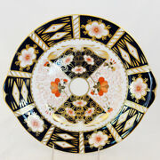 Royal Crown Derby Traditional Imari Cake Plate 10 Never Used Made In England