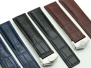 19-22mm Replacement Watch Band Strap Leather Made For Tag Heuer Carrera Monaco
