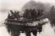 Russia Red Army Soldiers Truck Light Gun On Rubber Boat Wwii Ww2 Old Photo 1941
