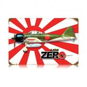 Zero Fighter Jet Airplane Japan Japanese Classic Wwii Military Metal Sign V330