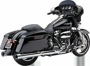 Cobra Chrome Race Pro Motorcycle Tapered Mufflers 2017 Harley Touring Flhx Flhxs