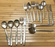Lot Airline Silverware Mexicana And United Air Lines Spoons Forks Knives Flatware