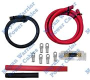 Heavy Duty Ofc Pure Copper Alternator Wiring Kit 1/0 Awg Gauge Wire Cable 300a