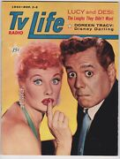 1957 Tv Radio Life Magazine Lucille Ball And Desi Arnaz Cover Very Fine Condition