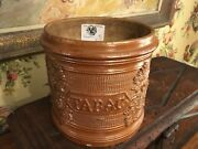 Antique French Salt Glazed Stoneware Pottery Tabac Tobacco Jar Charles Faudree