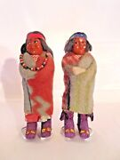 Rare Vintage Skookum 7 In. Indian Dolls From 1930s - Lowered 601