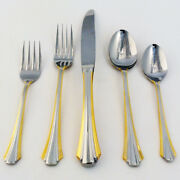 Lanark Gold Heritage Silverware 5 Piece Place Setting New Never Used 18/8 Japan