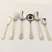 Hastings Gold By Heritage Silverware 6 Piece Hostess Set New Never Used 18/8