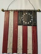 Wooden Flag Wall Decor Americana 10 X 7.25 Red White And Blue Wall Decor
