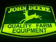 John Deere Back Lit Sign Ie- Lighted Neon Vintage Old 1950s Tractor Backlit