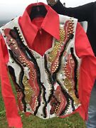 Show Vest And 2 Shirts Custom Coral Gold White Black Gorgeous Studs Stones