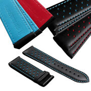 22mm Replacment Watch Band Strap Perforated Leather Rally Racing