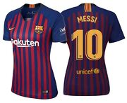 Nike Lionel Messi Fc Barcelona Womenand039s Home Jersey 2018/19