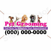 Custom Phone Number Pet Grooming Call Now To Schedule Appointment Banner Sign