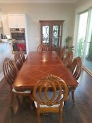 Haverties 8 Chair Dinning Room Set With China Cabinet Two Extra Leaves