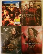 The Hunger Games Complete 4 Film Collection Catching Fire Steelbook Mockingjay
