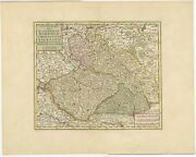 Antique Map Of Bohemia By Tirion 1730