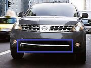 Fits 2006-2007 Nissan Murano Front Bumper Lower Chrome Trim Accent Molding New
