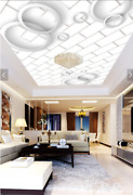 3d White Tile Round Ring 9 Wall Paper Wall Print Decal Wall Deco Aj Wallpaper