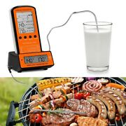 Wireless Lcd Remote 2 Probe Meat Thermometer Set For Bbq Smoker Grill Oven