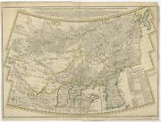Antique Map Of Tartary China And Korea By Bowen C.1741