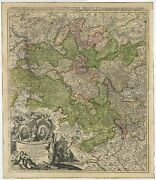 Antique Map Of The Circle Of Franconia By Homann C.1703