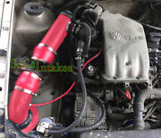 All Red Coated Cold Air Intake Kit For 93-98 Volkswagen Golf Jetta Cabrio 2.0 L4