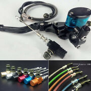 Motorcycle Hydraulic Clutch Lever Master Cylinder Oil Hose Lower Pump Blue Cup