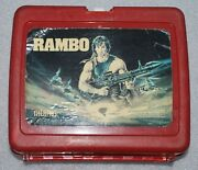 Vintage 1985 Rambo Plastic Lunch Box Sylvester Stallone