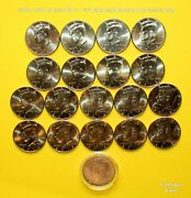 2010 - 2020 23 Coin Kennedy Half Uncirculated Set With 22 Pandd + 1 S Enhanced