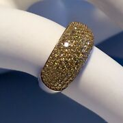 Nwt Sterling Silver 1k Yellow Diamond Ring Size 7