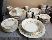 Mikasa Couture Coll.fine Porcelain Fanciful Pattern M6014 Complete Set For 8