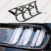 Fit 2015-17 Ford Mustang Glossy Real Carbon Fiber Tail Light Lamp Covers Trim