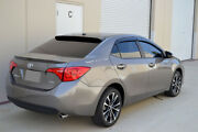 Hic Usa 2013 To 2018 Corolla 4dr Rear Roof Window Spoiler + Side Visors Combo
