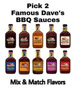 Famous Dave's Bbq Sauce Pick 2 Bottles Mix And Match Flavors Famous Daves Barbecue