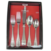 Towle Beaded Antique 18/10 Stainless Steel 45pc Flatware Set Service For Eight