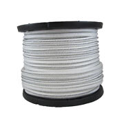 Usa 1/8 X 500and039 Bungee Cord Shock Cord White With Black Tracer