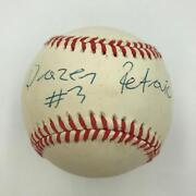 Rare Drazen Petrovic Single Signed Autographed American League Baseball Jsa Coa