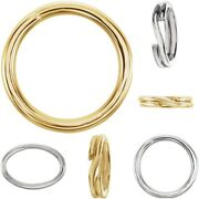 14k Or Silver 5mm-8mm Round/oval Split Rings Key Charm Jump Rings Chain Findings