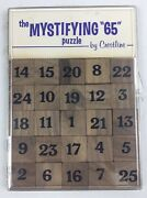 Vintage Mystifying 65 Sudoku Style Wood Puzzle Game 1970s By Crestline Solitaire