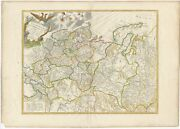 Antique Map Of The Russian Empire In Europe By Vaugondy 1793