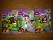 Lego Friends - Animals Series 3 Complete Set 41023 41024 And 41025 - Brand New
