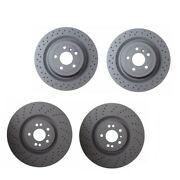 For Mercedes W166 Gl350 Front And Rear Cross-drilled Disc Brake Rotors Zimmermann