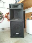 4 Yamaha Pa Speakers Model S4115h -- Sold As Set Only